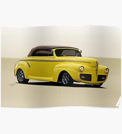 1941 Ford Custom Convertible Coupe Poster