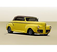 1941 Ford Custom Convertible Coupe Photographic Print