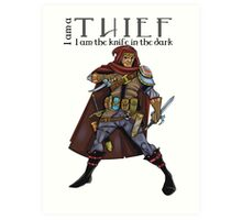 Dungeons and Dragons - the thief Art Print