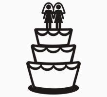 Lesbian wedding cake by Designzz