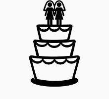 Lesbian wedding cake Womens Fitted T-Shirt