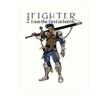 The fighter, dungeons and dragons Art Print