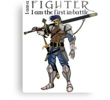 The fighter, dungeons and dragons Metal Print