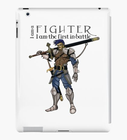The fighter, dungeons and dragons iPad Case/Skin