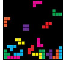 tetris on black Photographic Print