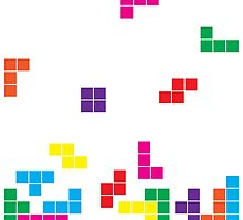 tetris on white by morf