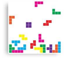 tetris on white Canvas Print