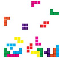 tetris on white Photographic Print
