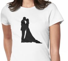 Kissing wedding couple Womens Fitted T-Shirt