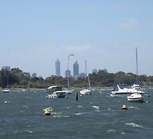 The Swan River On A Windy Day. Crawley. by m004