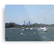 The Swan River On A Windy Day. Crawley. Metal Print