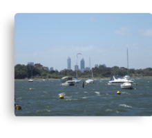 The Swan River On A Windy Day. Crawley. Canvas Print