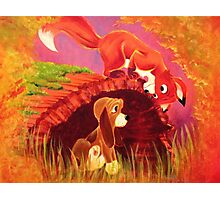 Fox and the Hound Painting Photographic Print