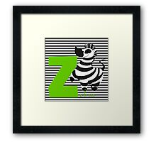 z for zebra Framed Print