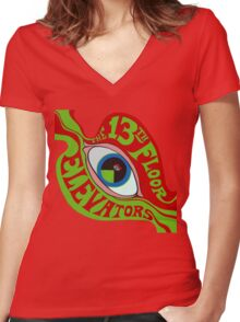 13th Floor Elevators T-Shirt Women's Fitted V-Neck T-Shirt