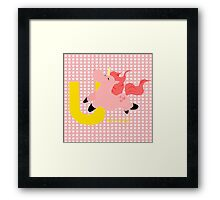u for unicorn Framed Print