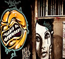 Graffiti art in Hobart by Ben Rae