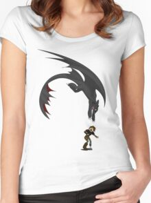 Dragon Pounce Women's Fitted Scoop T-Shirt