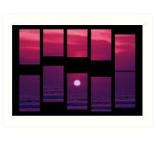 Kuta Sunset Art Print
