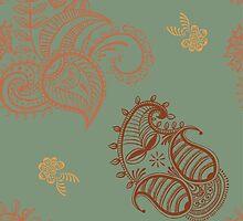 ethnic seamless pattern. Indian ornament, kaleidoscopic flora pattern, mandala. range, seamless pattern by OlgaBerlet