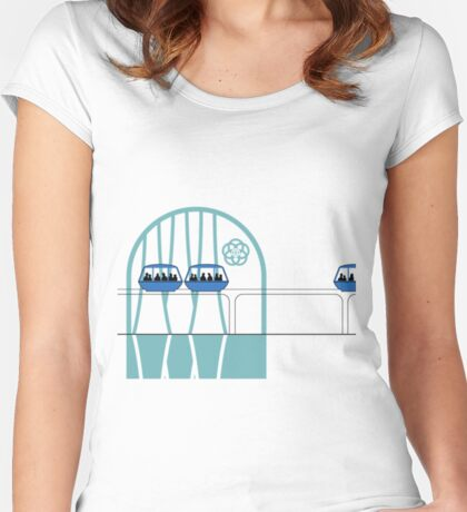Lake Buena Vista Peoplemover Women's Fitted Scoop T-Shirt