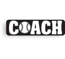 Baseball Coach Canvas Print