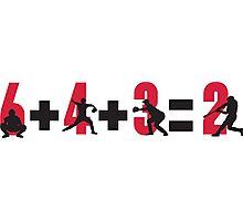 Baseball double play: 6+4+3=2 Photographic Print