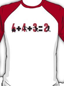 Baseball double play: 6+4+3=2 T-Shirt