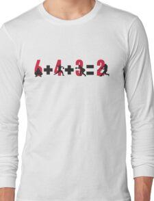 Baseball double play: 6+4+3=2 Long Sleeve T-Shirt