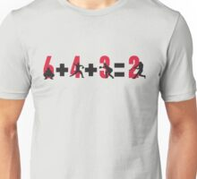 Baseball double play: 6+4+3=2 Unisex T-Shirt