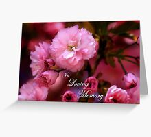 In Loving Memory Spring Pink Cherry Blossoms Greeting Card