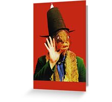Captain Beefheart Trout Mask Replica Greeting Card