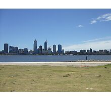 Perth Skyline. Perth Foreshore. South Perth. Photographic Print