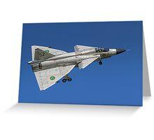 SAAB AJS 37 Viggen 37098/52 SE-DXN Greeting Card