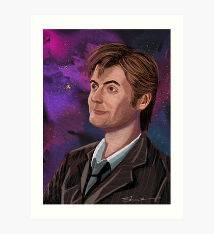 David Tennant the 10th Doctor Art Print
