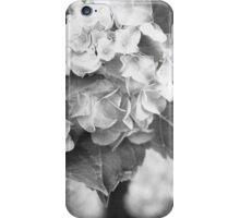 Hydrangea in Black and White iPhone Case/Skin