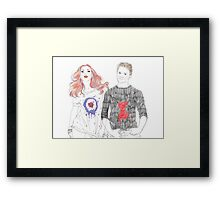 Each Other's Fans  Framed Print