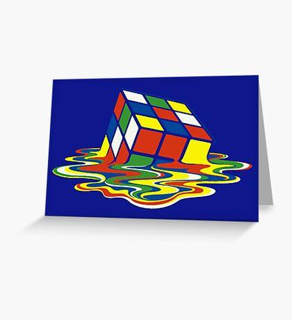 Rubiks Magic Cube in the Ocean Sea Greeting Card