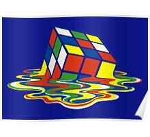 Rubiks Magic Cube in the Ocean Sea Poster