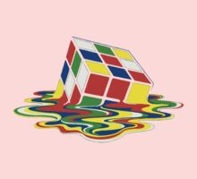 Rubiks Magic Cube in the Ocean Sea Baby Tee