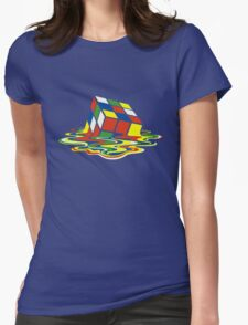 Rubiks Magic Cube in the Ocean Sea Womens Fitted T-Shirt