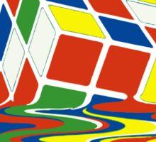 Rubiks Magic Cube in the Ocean Sea Sticker