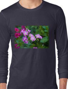 Sweet Pink Dianthus Flowers Long Sleeve T-Shirt