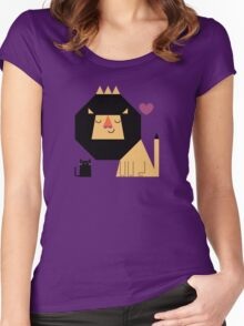 Love Lion Women's Fitted Scoop T-Shirt
