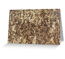 Old textile fabric pattern texture Greeting Card