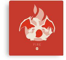 Pokemon Type - Fire Canvas Print