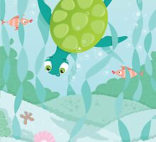 Turtle-diver by oksancia