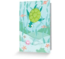 Turtle-diver Greeting Card