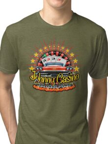 Johhny Casino Autoshop Tri-blend T-Shirt