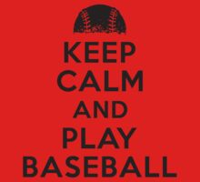 Keep calm and play baseball Kids Clothes